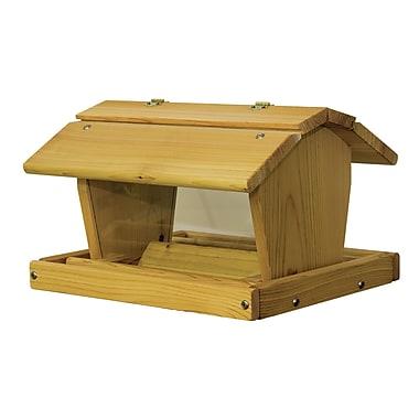 Stovall Hopper Bird Feeder; 11.5'' H x 17.75'' W x 14.5'' D