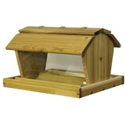 Stovall Hopper Bird Feeder; 12.75'' H x 20'' W x 15'' D