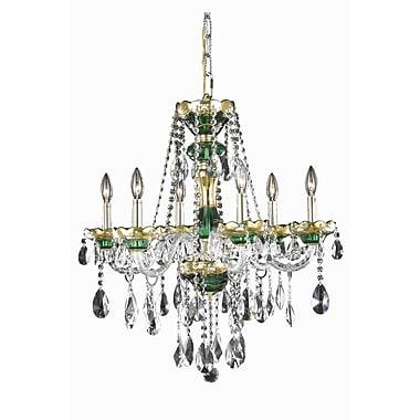 Astoria Grand Schroeppel 6-Light Crystal Chandelier; Spectra Swarovski