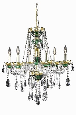 Astoria Grand Schroeppel 6-Light Crystal Chandelier; Elegant Cut