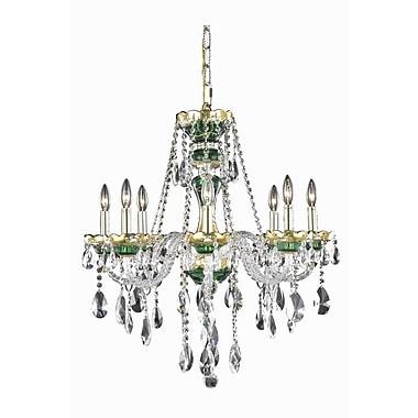 Astoria Grand Schroeppel 8-Light Crystal Chandelier; Elegant Cut