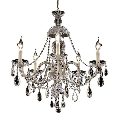 Astoria Grand Schroeppel Traditional 5-Light Crystal Chandelier