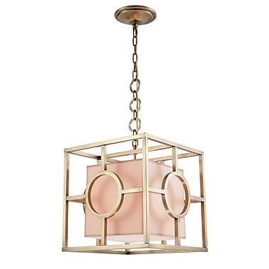 Everly Quinn Nana 1-Light Foyer Pendant; Polished Nickel