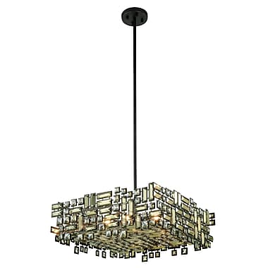 Everly Quinn Nancee 6-Light Crystal Rod Chandelier; Chrome
