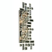 Everly Quinn Nancee 4-Light Wall Sconce; Dark Bronze/Golden Teak