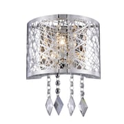 Everly Quinn Lucretia 1-Light Wall Sconce; Chrome