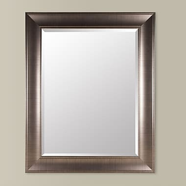 NielsenBainbridge Gallery Solutions Beveled Wall Mirror; Bronze