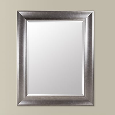 NielsenBainbridge Gallery Solutions Beveled Wall Mirror; Black Nickel