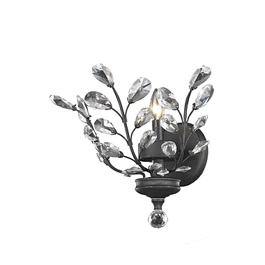 Wildon Home Orchid 1-Light Wall Sconce; Elegant Cut