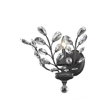 Wildon Home Orchid 1-Light Wall Sconce; Swarovski Element