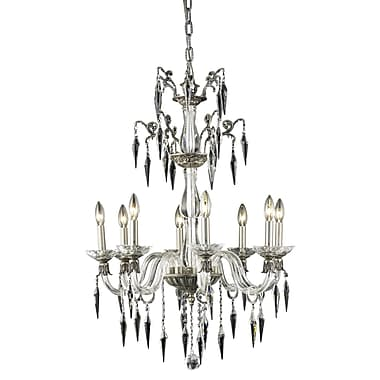 Rosdorf Park Shaina 8-Light Crystal Chandelier; French Gold