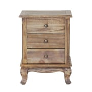 Heather Ann Pinecrest 3 Drawer Accent Cabinet; Farmhouse Rustic