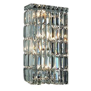 Rosdorf Park Bratton Contemporary 4-Light Wall Sconce; Elegant Cut