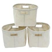 Cathay Importers – Panier de rangement rectangulaire en toile, blanc, ens./3