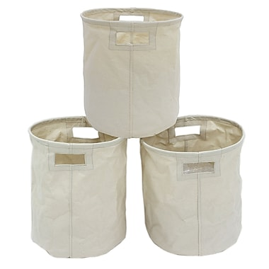 Cathay Importers Canvas Round Storage Basket, 18