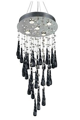 Orren Ellis Hensler 5-Light Wire Crystal Chandelier; White