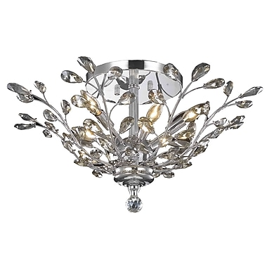 Rosdorf Park Giovanni Contemporary 6-Light Flush Mount; Spectra Swarovski