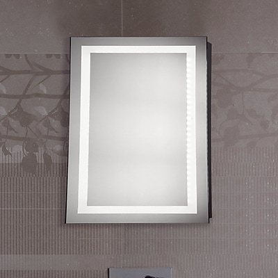 Elegant Lighting Nova LED Electric Rectangle Mirror; 30'' H x 20'' W x 1.6'' D