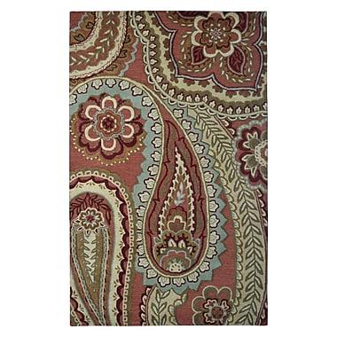 Eastern Weavers Wool Hand-Tufted Rust/Beige Area Rug; 5' x 8'