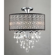 JoJoSpring Bubble Shade 4-Light Semi Flush Mount