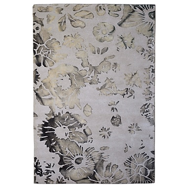 Eastern Weavers Wool Floral Hand-Tufted Ivory/Green Area Rug; 5' x 8'