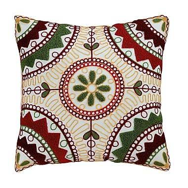 ElightHome Weston Embroidered Cotton Throw Pillow