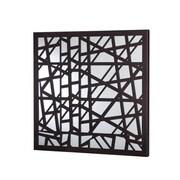 Mariano Metal Decor Basket Weave Wall Mirror