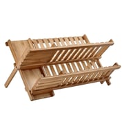 Welland Industries LLC Bamboo 2-Tier Dish Rack