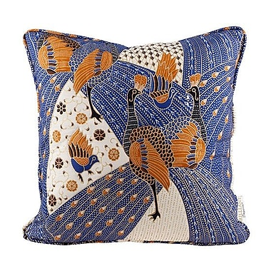 Brilliant Imports Quilted Peacock Throw Pillow