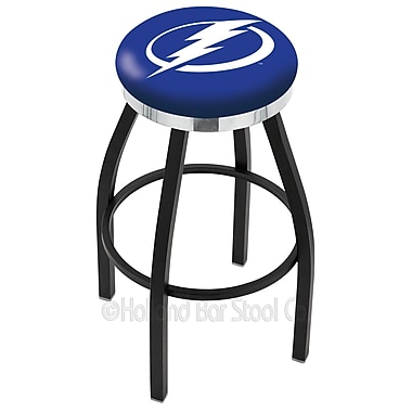 Holland Bar Stool NHL 25'' Swivel Bar Stool; Tampa Bay Lightning