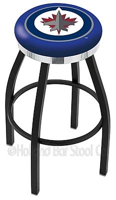 Holland Bar Stool NHL 36'' Swivel Bar Stool; Winnipeg Jets