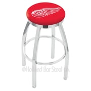 Holland Bar Stool NHL 25'' Swivel Bar Stool; Detroit Red Wings