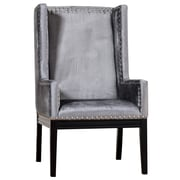 TOV Tribeca Wing back Chair; Grey