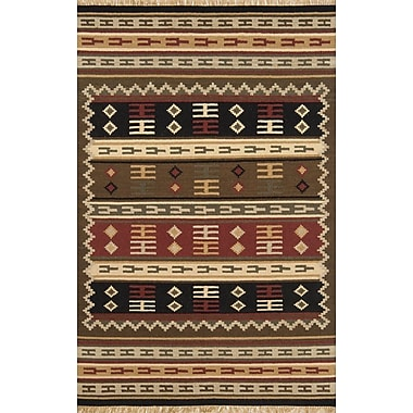 Continental Rug Company Jijum Knotted Wool Brown Area Rug; Rectangle 5' x 8'