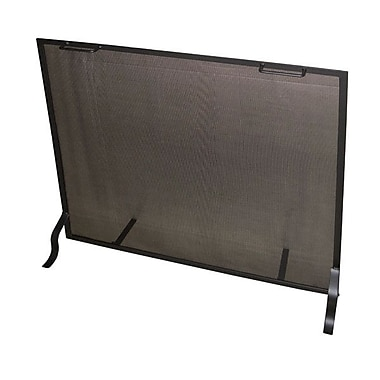Master Flame Single Panel Steel Fireplace Screen; 36'' H x 40'' W x 7'' D