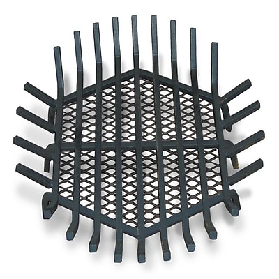 Master Flame Round Fire Pit Grate; 8'' H x 24'' W x 24'' D