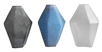 Cole & Grey Glass Frosted Table Vase (Set of 3) WYF078279762626