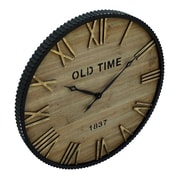 Cole & Grey Oversized Wood Metal 36'' Wall Clock