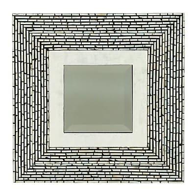 Cole & Grey Wood Shell Wall Mirror