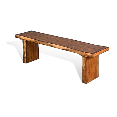 Gracie Oaks Shamane Wood Dining Bench