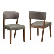 Infini Furnishings Sara Side Chair  (Set of 2); Cement Gray