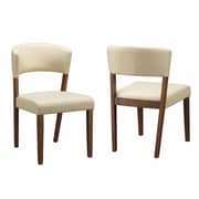 Infini Furnishings Sara Side Chair  (Set of 2); Cream Beige