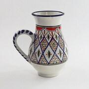 Le Souk Ceramique Tabarka Stoneware 68 oz. Pitcher
