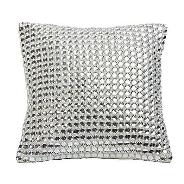 Sivaana Mirror Work Linen Throw Pillow (Set of 4)