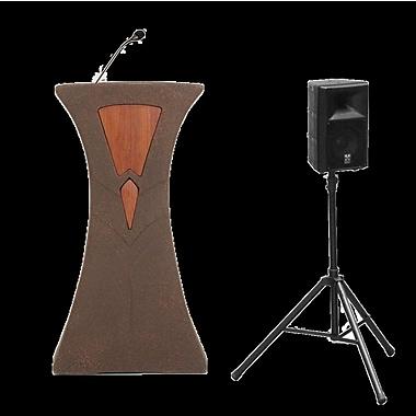 Accent Lecterns Dan James Original Traveler Presenter Full Podium; Bronze Granite/Cherry