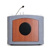 Accent Lecterns Dan James Original Accent Presenter Table Top Lectern; Gray Granite/Cherry