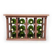 Wineracks.com 12 Bottle Floor Wine Rack; Mahogany