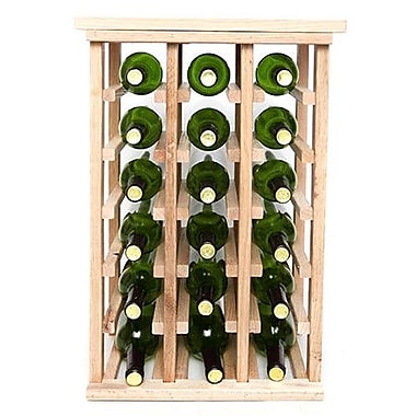 Wineracks.com 18 Bottle Floor Wine Rack; Oak