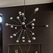 Nuevo Sergei 24-Light Bowl Pendant; Black