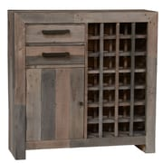 Loon Peak Needham 28 Bottle Floor Wine Cabinet; Charcoal